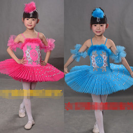 Colors Girls Ballet Tutu Dance Dress Children Professional Swan Lake Dancewear Stage Costumes Hard Organdy Platter Dance Skirt