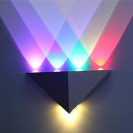 LED Wall Lamps Indoor Wall Light 3W 4W 5W 6W 8W Lamps Colorful Stage Lights KTV Decorative Wall Light Red Green Blue Purple LED Lamp
