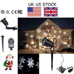 Wholesale UK US STOCK Moving Outdoor and indoor LED Snowflake Laser Light Projector Lamp For parties and best gift for Christmas