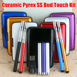 O pen 510 Thread Vape Pen Ceramic coils Pyrex Stainless steel vape cartridge glass wickless oil cartridge Bud Touch CE3 Starter Kits