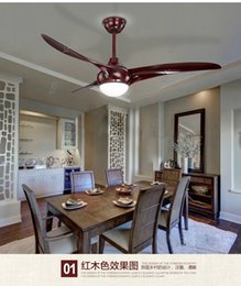 American dining room living room fan indoor modern ceiling fan light ceiling LED ceiling fans with remote control 52inch