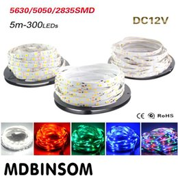 High Birght 5M 5050 3528 5630 Led Strips Light Warm White Red Green Blue RGB Flexible 5M Roll 300 Leds 12V outdoor Ribbon Waterproof