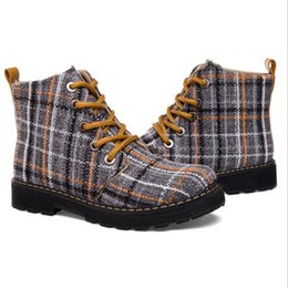 Wholesale 2016 new British style female Martin boots women canvas boots in the women s boots manufacturers