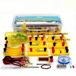 Wholesale School Electricity learn test box Getting Started Electromagnetic physics equipment boxes science experiment teaching aids