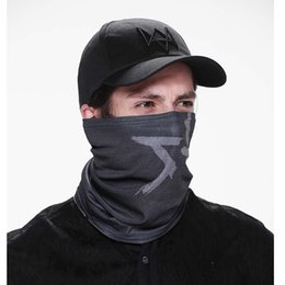 Wholesale Watch Dogs Aiden Face MASK Cap Cotton Hat Set Costume Cosplay Mask Hat Mens Panel Tactique Baseball Caps
