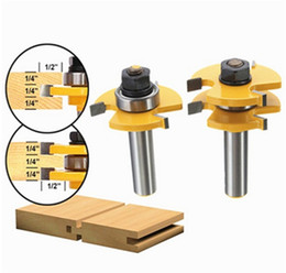 Wholesale 2pcs Inch Shank T handle Rail And Stile Wood Router Bit Wood Working Cutter Hand Tools