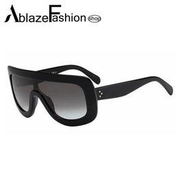 Compra Online Gafas de diseño fresco-Las gafas de sol de gran tamaño del espejo del diseñador de la marca de fábrica estupenda al por mayor-Nuevo 2016 de la estrella estupenda refrescan los vidrios de Sun del punto de los hombres de las mujeres Lunette De Soleil UV400