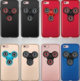 Pc sportif à vendre-Fidget Spinner Phone Case Matte Hard PC Rotatable Finger Hand Spinner Housse pour iPhone 6 6S 7 Plus 170623