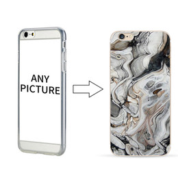 Wholesale Customize Logo Transparent Phone Case for iPhone 6 6 Plus Marble Pattern Case Mobile Phone Shell
