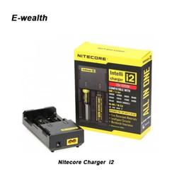 Original Nitecore I2 universal Intellicharger Charger for e cigs cigarette 18650 14500 16340 26650 battery multi function