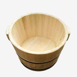 Wholesale Bubble barrel incense wood health foot bath foot washing barrel log without lacquer bucket water saving foot tub