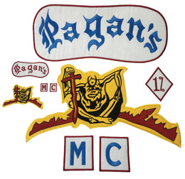 NEW ARRIVAL Pagan Motorcycle Patch 1% Biker Rider Vest MC Embroidered Patch For Back of Jacket Patch G0412 Free Shipping