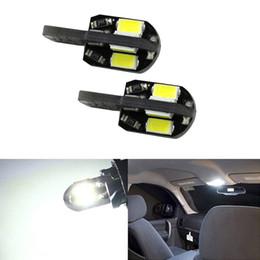 LEEWA 10pcs T10 194 168 W5W 5730SMD 8LED Canbus No-Error Car Side Wedge LED Light Bulbs #5297