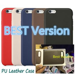 Wholesale Best Luxury PU Leather Original Back Case For iphone Plus S Plus SE High Quality Official Cover Case With Retail Box Logo