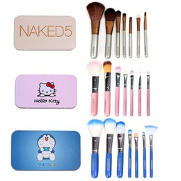 Wholesale Makeup Brush Set portable iron boxed package painted a full set of professional beauty makeup brush tool for beginners