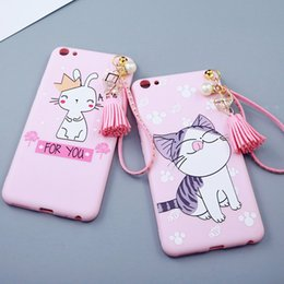 TPU phone case tassel pendant 6 s turnkey shell new wholesale lovely lines following from blossoms for iPhone6 7 iPhone6 7plus