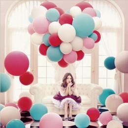Wholesale 10pcs globos grandes estupendos de la pulgada colorean los globos decorativos de la fiesta de cumpleaños de la boda grande que espesan el globo multicolor del látex