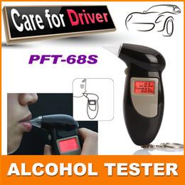 Promotion alcool trousseau Matière première de la vente en gros-100% abs abs noir de la couleur keychain alcootest / ajustement testeur d'alcool avec rétro-éclairage rouge pft68s