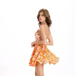 Wholesale Europe and the United States in the new summer harness sexy backlit large skirt dress YYL010