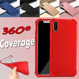 360 Degree Coverage Hard PC+TPU Full Cover Shockproof Air Cushion Case For iPhone X 8 7 Plus 6 6S 5 5S with Tempered Glass Screen Protector