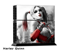 Cool Harley Quinn Full Set Skin Sticker Vinyl Decals For PS4 Console + 2 PCS Controller Cover Decal Skins For PS4