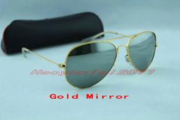 2017 espejo de cristal clásico Gafas de sol clásicas del metal del diseñador de las gafas de sol de la alta calidad para los hombres Vidrio de las gafas de sol del metal del diseñador de los vidrios de los hombres espejo de cristal clásico en venta