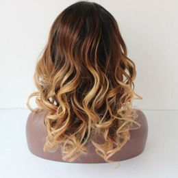 130% Density Three Tone Glueless wavy Full Lace Human Hair Wigs Brazilian Lace Front Wigs Ombre With Baby Hair Ombre Lace Wigs