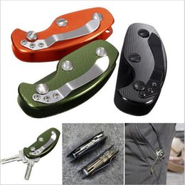 Wholesale Outdoor EDC Gadgets Ultra Light Aluminum Key Holder Key Clamp Lightweight Key Wallets Men Keychain Case Edc Pocket Tool