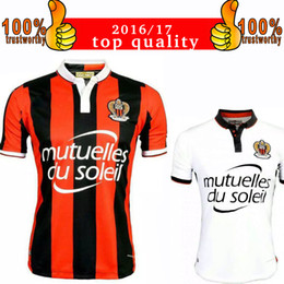 Wholesale 2017 OGC Nice French League soccer Mario Balotelli Soccer Jersey Balotelli Nice Home Red Away White Football Shirts Maillot de Foot