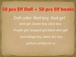 2017 livres vidéo Grossiste- 100pcs = 50pcs la poupée Elf + 50pcs Soft livres Noël étagère jouets Figure poupées de Noël jouet nouveauté abordable livres vidéo