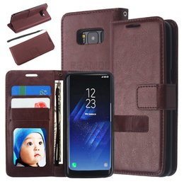 Wholesale Luxury Crazy Horse Pattern Flip Leather Cover for iPhone 7 7 Plus Protective PU Leather Case with Card Slots