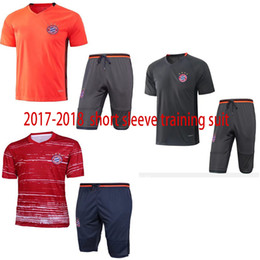 free shipping top quality 17 18 short sleeve training suit orange red gray soccer kit fashion Outerwear Tracksuit football suit