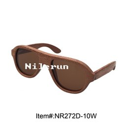 brand brown polarized handmade wood frame sunglasses