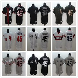 Wholesale Online Store Chicago White Sox Michael JordanBaseball Jerseys White Black Gray Embroidery logos Jersey Accept Mix Orders