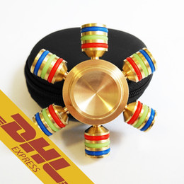 Wholesale Brass Hexagonal Fidget Spinner Hexa spinner EDS Anti stress Rotation Metal Spinners Cooper Fidget Spinner Decompression Novelty Toy