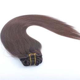 2017 extensión del pelo humano clip de la cabeza llena Clip en las extensiones peruanas del pelo derecho 7pcs Clip en el pelo humano completa el clip principal en las extensiones del pelo humano extensión del pelo humano clip de la cabeza llena oferta