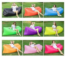 Wholesale Outdoor Inflatable Air Sofa Lazy Men Sleeping Bag Portable Air Sofa for Beach Sunbath Lunch Rest