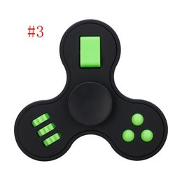 Multifunction Hand Spinner Fidget Cube Toys Finger Spinner Three Leaves Spinning For Autism and ADHD Relief Stress Focus Toys