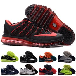 Wholesale 2016 Running Shoes Women Sneakers For Sale High Quality air Max Discount Walking KPU NM Blue Sports Shoes