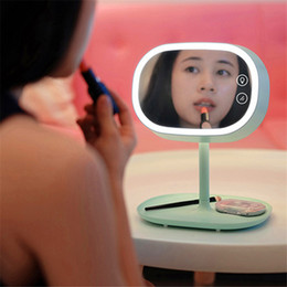 Wholesale Original Muid Cosmetic Mirror LED lamp Make up mirror led touch lamp Storable base plate Multi function USB Rechargeable mirror table lamp