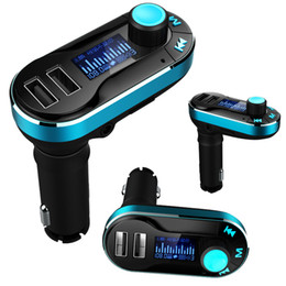 Free DHL Wireless T66 MP3 Player Car Kit FM Transmitter With Car Audio Remote Control LCD Display