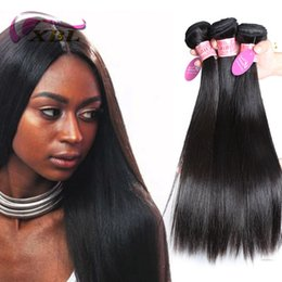 xblhair silky straight human hair extensions human hair weave virgin brazilian human hair bundles 3 4 pieces