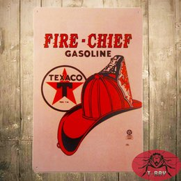Wholesale T Ray VINTAGE TEXACO FIRE CHIEF Pump Plate PORCELAIN SSP Sign Gas Oil