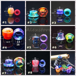 Wholesale 8 Styles Epoxy Resin Drip tip Wide Bore Mouthpiece for Vgod RDTA Goon Griffin AV Kennedy Vengeance Limitless XL