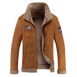 Air en cuir libre à vendre-Vente en gros Livraison gratuite Homme Air Force Bombardier Basic manteaux vestes hiver homme épais Veste en cuir pour hommes Vêtements Me