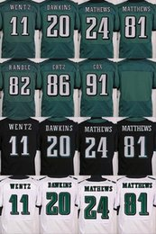 Wholesale 2017 carson wentz brian dawkins Elite Football Jerseys Best quality Authentic Jersey Embroidery Logo Size M XL Can Mix Order