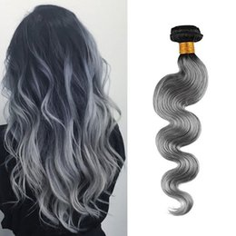 Brazilian Hair Bundles Ombre Color T1B Gray Body Wave Human Hair Weft 100g pc 100% Unprocessed Virgin Human Hair Weave Cheap Price