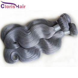 Cuticle Aligned Grey Body Wave Bundles Raw Virgin Indian Hair Weave Cheap Wavy Silver Gray Human Hair extensiones de cabello 3pcs Deals