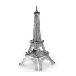 Wholesale 3D Puzzle Metal Earth World s Famous Building DIY Laser Cut Model Paris Iron Tower Big Ben Educational Jigsaw Toy for Kid