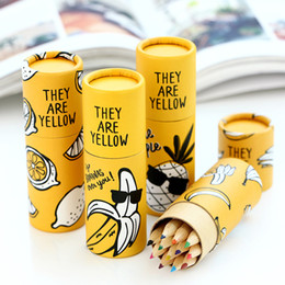 Niños mini lápiz en venta-Regalo de madera del lápiz del dibujo del lápiz de la acuarela de Wholesale-12PCs / Lot mini para los cabritos Kawaii School Supplies Cute Stationery